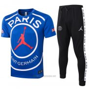Chandal del Paris Saint-Germain Jordan Manga Corta 2020-2021 Azul
