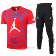 Chandal del Paris Saint-Germain Jordan Manga Corta 2020-2021 Rojo