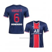 Camiseta Paris Saint-Germain Jugador Verratti Primera 2020-2021