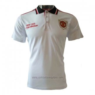 Camiseta Polo del Manchester United 20th Aniversario 2019/2020 Blanco