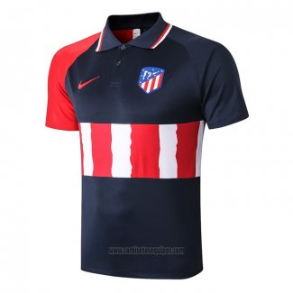 Camiseta Polo del Atletico Madrid 2020-2021 Azul