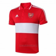 Camiseta Polo del Arsenal 2019/2020 Rojo y Blanco